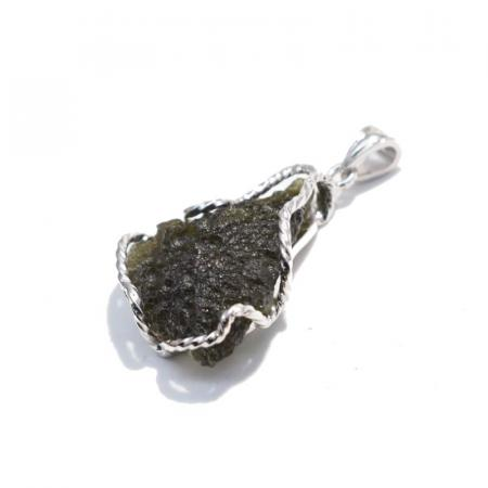 Moldavite Pendant - CRYSTALE|Natural Crystal Shop